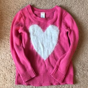 Girls Gymboree heart sweater